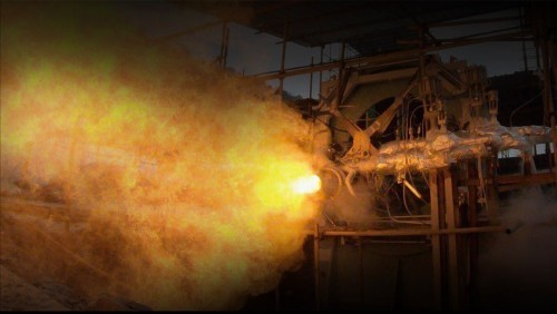 蓝箭航天80吨液氧甲烷发动机半系统试车圆满成功