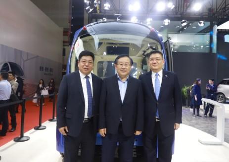 """苏州金龙L4级无人驾驶巴士Pro-Blue""""深蓝""""上海国际车展全球首发"""